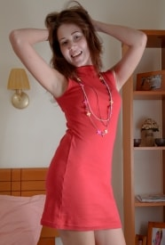 Valentina in a red dress ready for fun