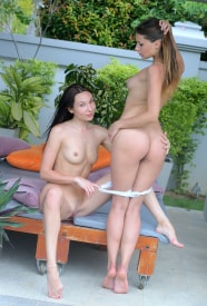 Yarina A & Martina feeling frisky outdoors in some girl girl action