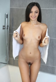 Shrima Malati gets her pussy wet in the shower