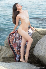 Sowan On the rocks outdoors naked